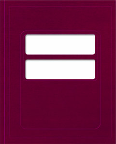 1040 Compatible Tax Folder Burgundy MDFBU11