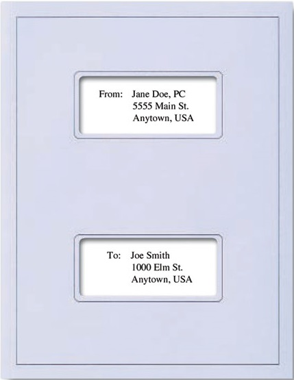 Tax Report Folders Dual Window Light Blue MDCLB01