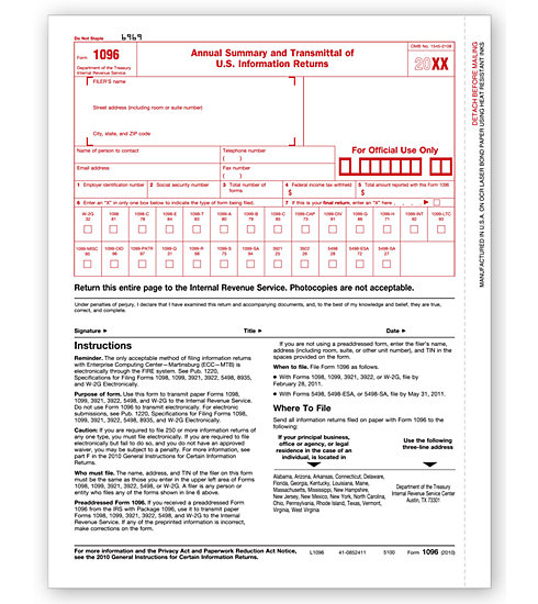 1096 Transmittal MDTF5100 - Click Image to Close