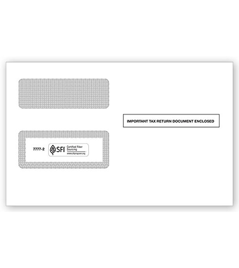 1099 Int/1099 Misc/1099R/1099 Div Envelope Self Seal MDTF77772