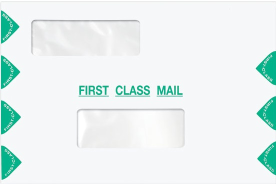 First Class 6 x 9 Dual Window Envelope-Moisture Seal MDPEC03