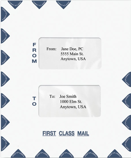 First Class Dual Window Envelope-Self Seal MDPEO15