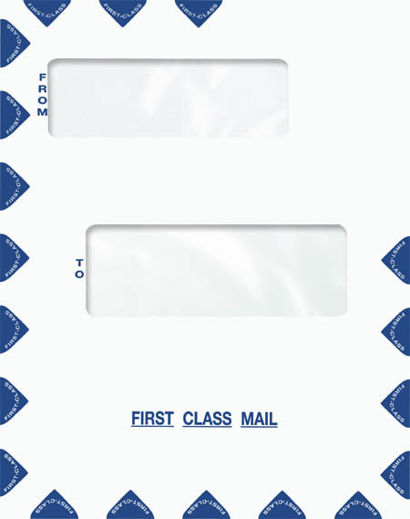 1040 Compatible Dual Window Envelope (Self Seal) MDPEQ43