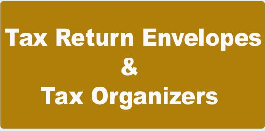 Tax Return & Organizer Envelopes