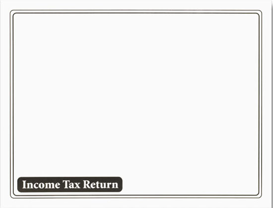Tax Return Envelope White w/Black Ink MDENV610