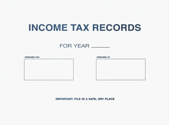 Income Tax Records Envelope MDPE109
