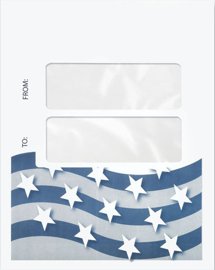 Max Tax Compatible Dual Window Envelope Stars & Stripes MDPEU47