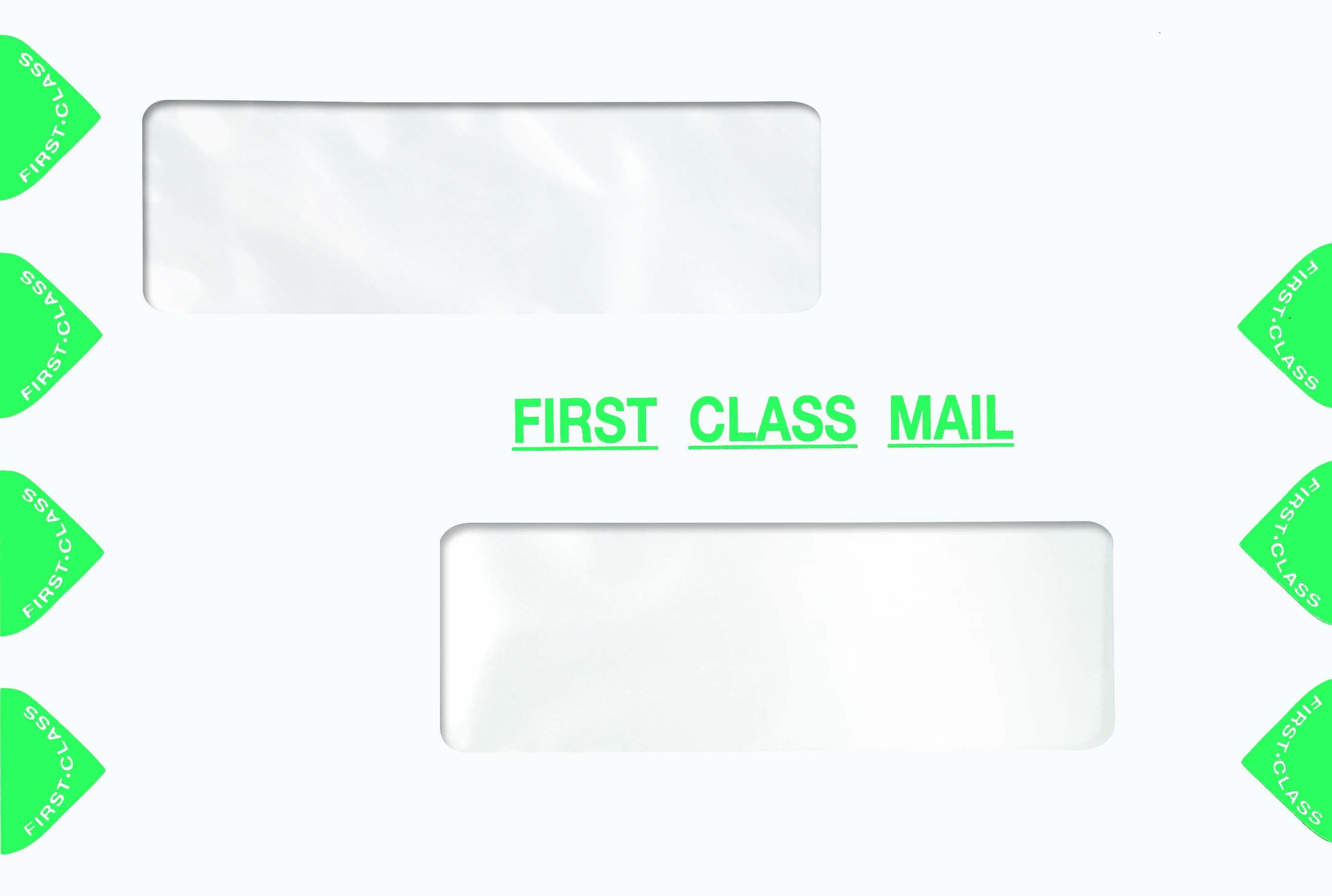 First Class 6 x 9 Dual Window Envelope-Moisture Seal MDPED04